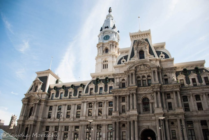 Il City Hall, il palazzo del municipio di Philadelphia