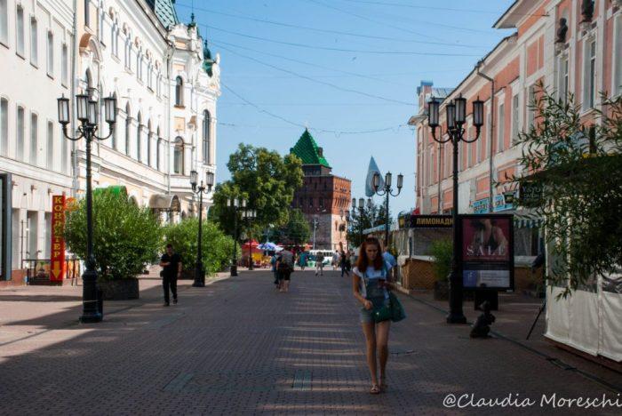Bolshaya Ul., la principale via del centro di Nizhny