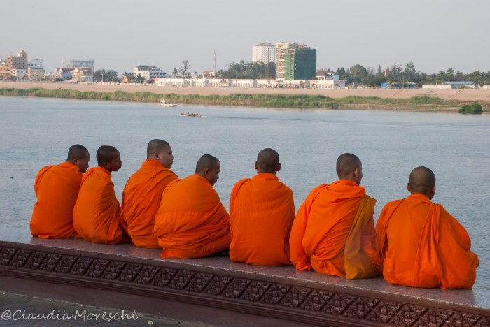 Lungo il Mekong a Phnom Penh