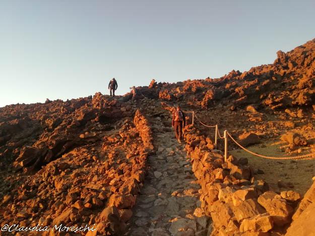 Il sentiero che porta in vetta al Teide