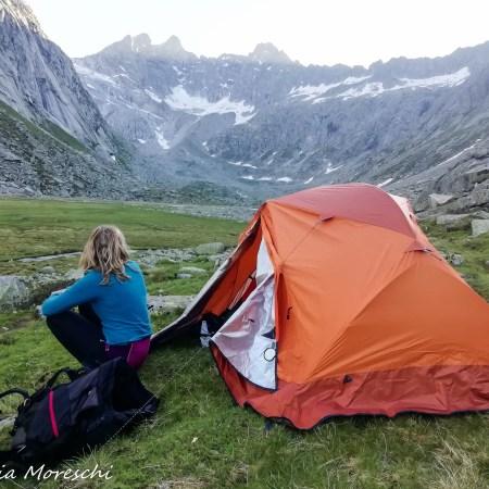 dormire in tenda in montagna