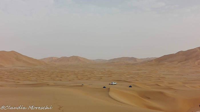 In tenda in Oman, nel deserto del Rub Al Khali