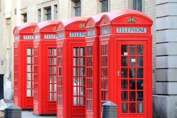 Telephone booths in London