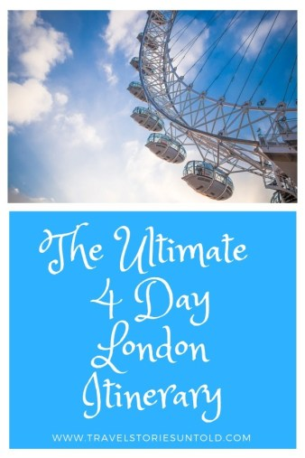 Looking for the perfect 4 day London itinerary? We've got you covered. This London itinerary will give you a taste of the city's popular sights as well as a flavor of a few nearby towns. Harry Potter or English soccer fans might find this itinerary particularly useful as it includes visits to the WB Harry Potter Studio and the Chelsea FC Stadium tours as well.