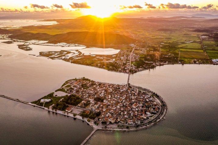 Αιτωλικό μικρή Βενετία της Ελλάδας το ηλιοβασίλεμα