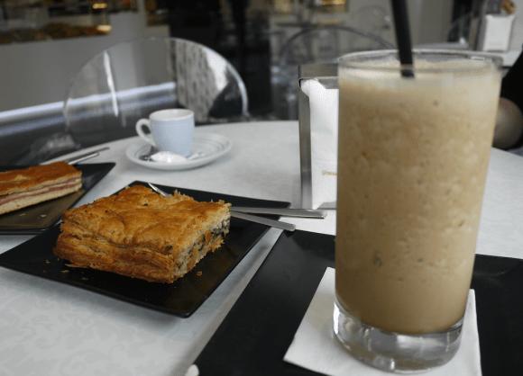 spinachempanadaicecoffee
