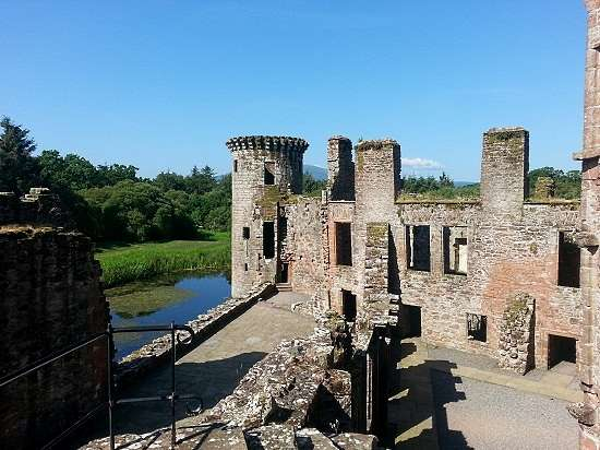 internal shot of caerlaverock castle