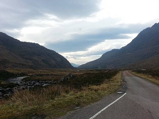 glen torridon on a scotland road trip.