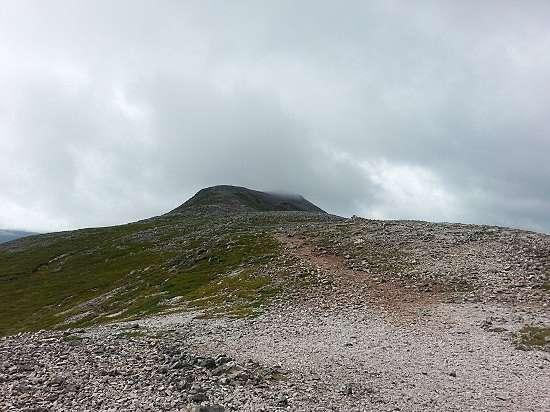 the conical summit schiehallion.