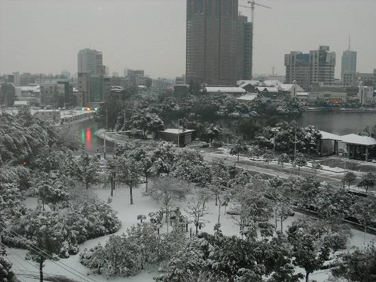 snow living in wuhu china.