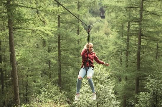 go ape zip wire weekend in the Scottish Borders.