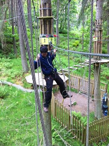 go ape monkey bars weekend in the Scottish Borders.
