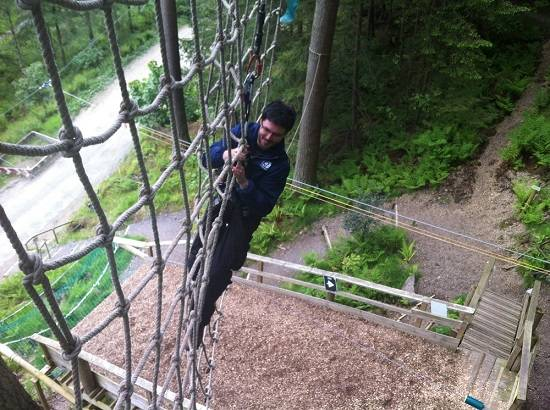 go ape weekend in the Scottish Borders.