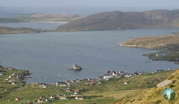 visit barra view of castlebay from heaval