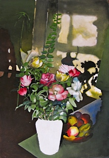 A vase of flowers in Noels botanical collection