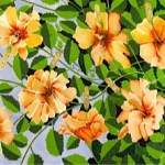 Painting of hibiscus flowers
