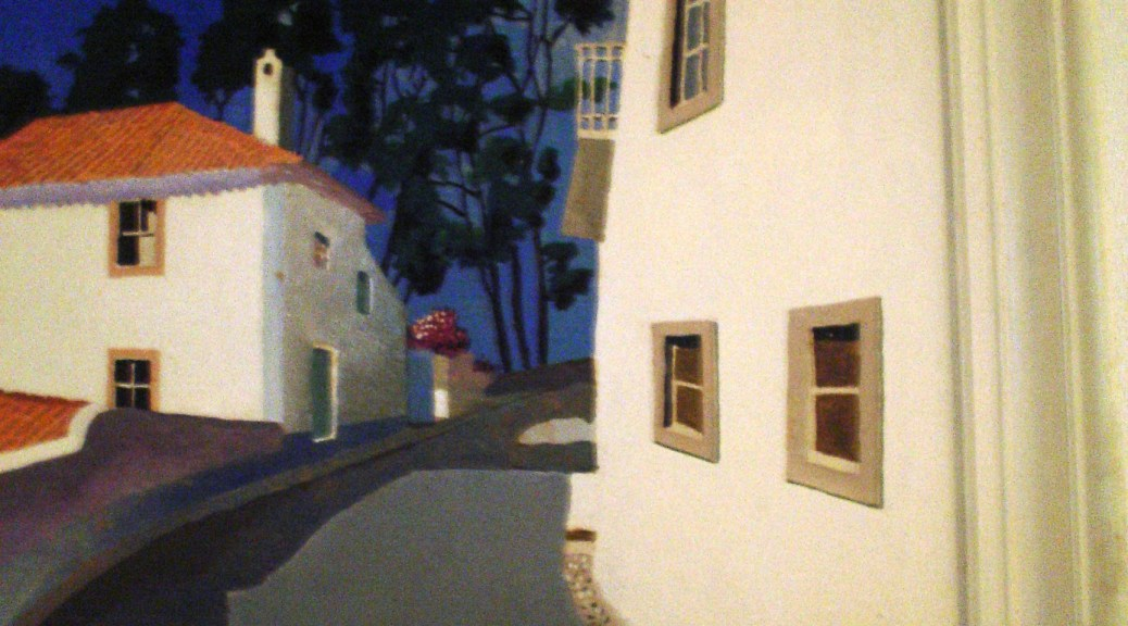 Street leading up to Penedo in Portugal