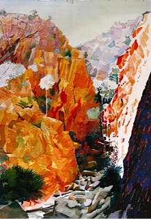 Stanley Chasm in Northern Territory Australia watercolour 55x39cm