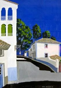 Blue sky over Penedo, Portugal