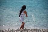 Yao Yao on Greek Beach