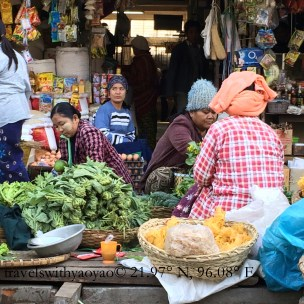 Marketplace in Bagan, Myanmar