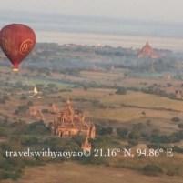 Balloons and Stupas in Bagan, Myanmar