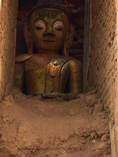 Buddha Statue, Indein, Myanmar
