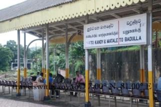 Local Train Station in Kandy, Sri Lanka