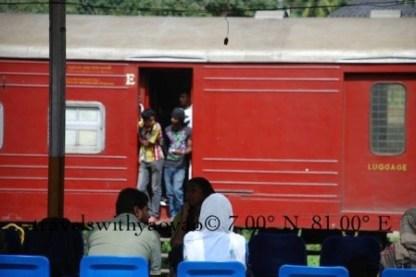 Local Train in Kandy, Sri Lanka