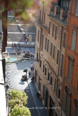 View from the terrace at the Inn at the Spanish Steps