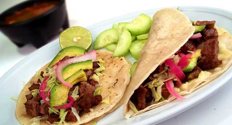 Top Food Destinations In The World Mexico Tacos 740x400