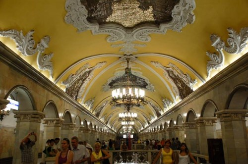 Moscow Metro - Komsomolskya Train Station