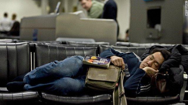 Bildergebnis für sleep at airport