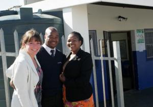Melanie at Entrepreneurship Centre in Nemato (Nelson Mandela Township)