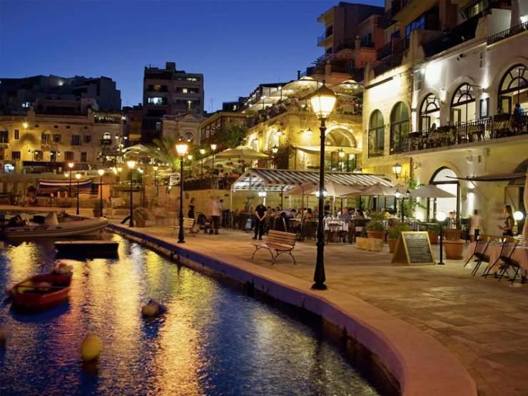 St. Julian's Promenade in Malta