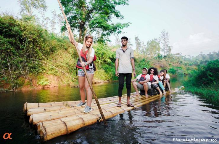 bamboo rafting kerala