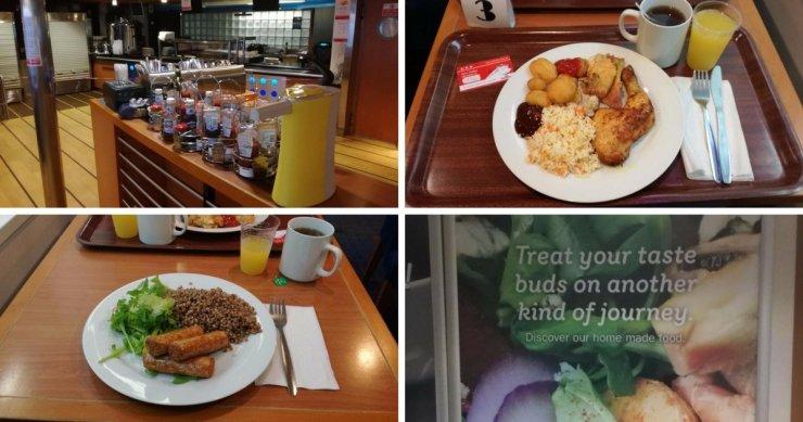 Mahlzeiten an Bord der Stena Line - Nordica