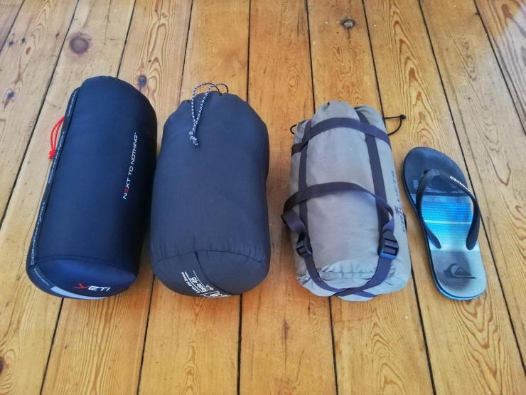 Schlafsack und Isomatte Packliste Radreise