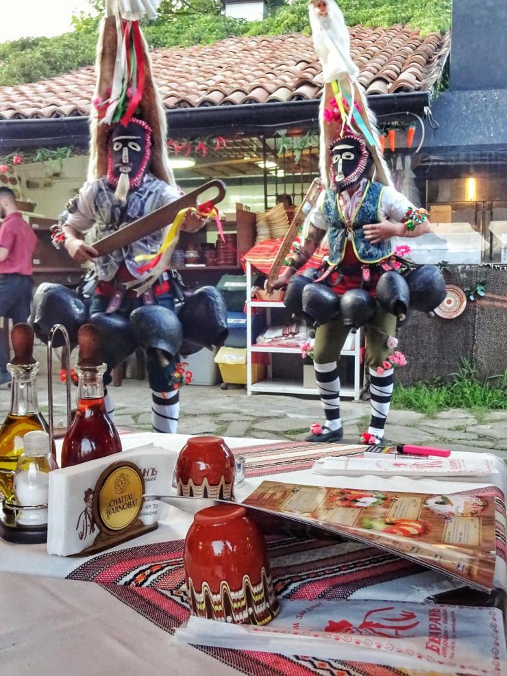 Feuertanz im Restaurant Bulgaran bei Kazanlak