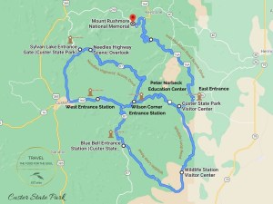 Custer State Park Attractions Map