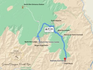 Grand Canyon North Rim Attractions Map