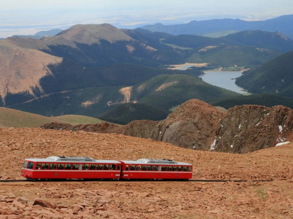 Riding The Cog Train To Pikes Peak Summit