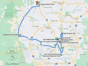 San Antonio Attractions Map