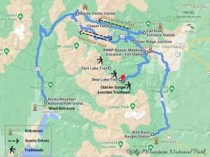 Things To Do In Rocky Mountain National Park Map