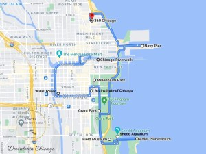 Downtown Chicago Attractions Map