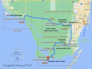 Everglades National Park Attractions Map