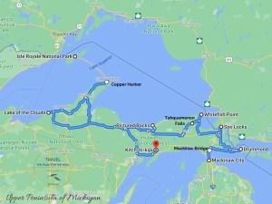 Michigan's Upper Peninsula Attractions Map