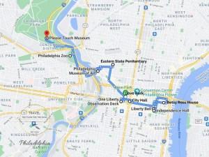 Philadelphia Attractions Map