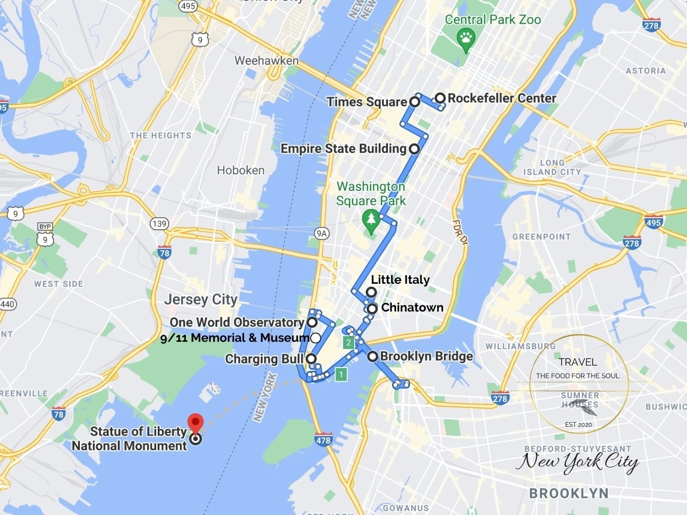 Attractions Map New York City