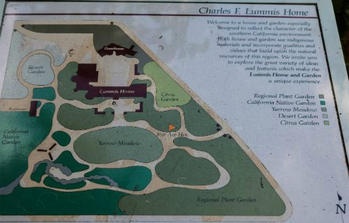 Map of Lummis House and Gardens